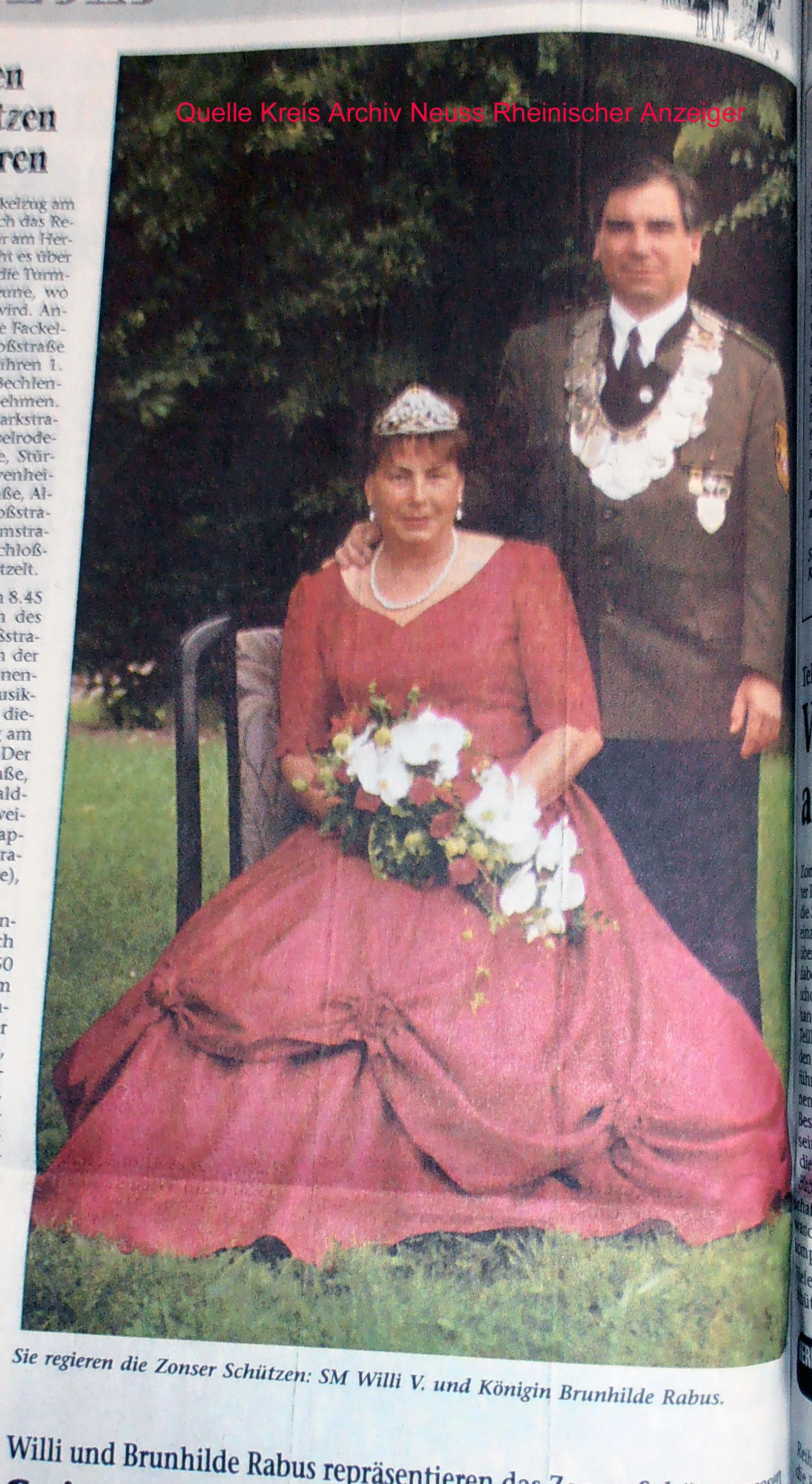 König Wilhelm Rabus mit seiner Königin Brunhilde